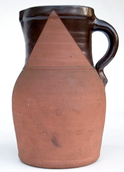 Tanware 19th Century Pennsylvania Decorated Antique Pitcher with Lincoln Drape