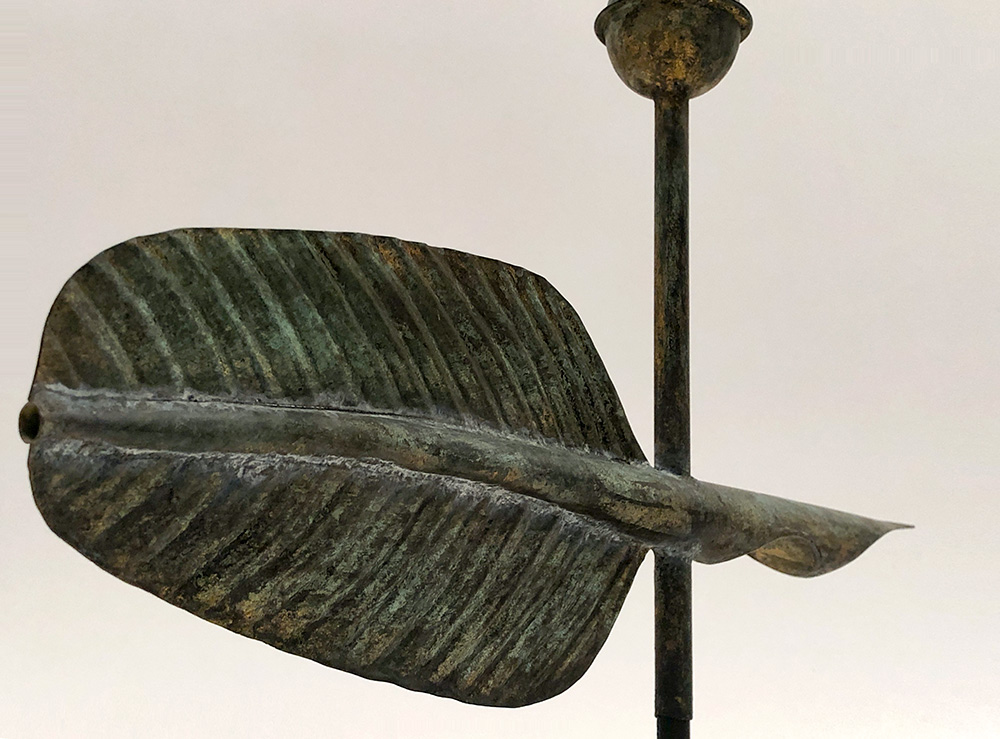 Antique Original Copper Quill Weathervane