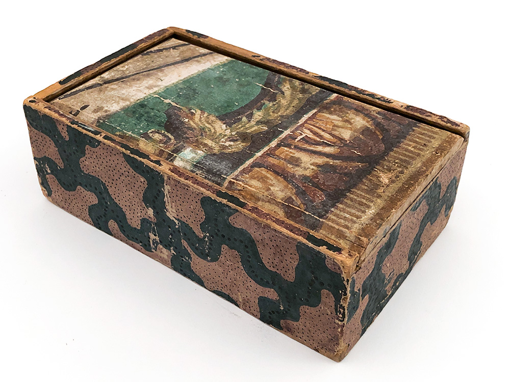 Antique Wallpaper Box in the Form of a Spice Box
