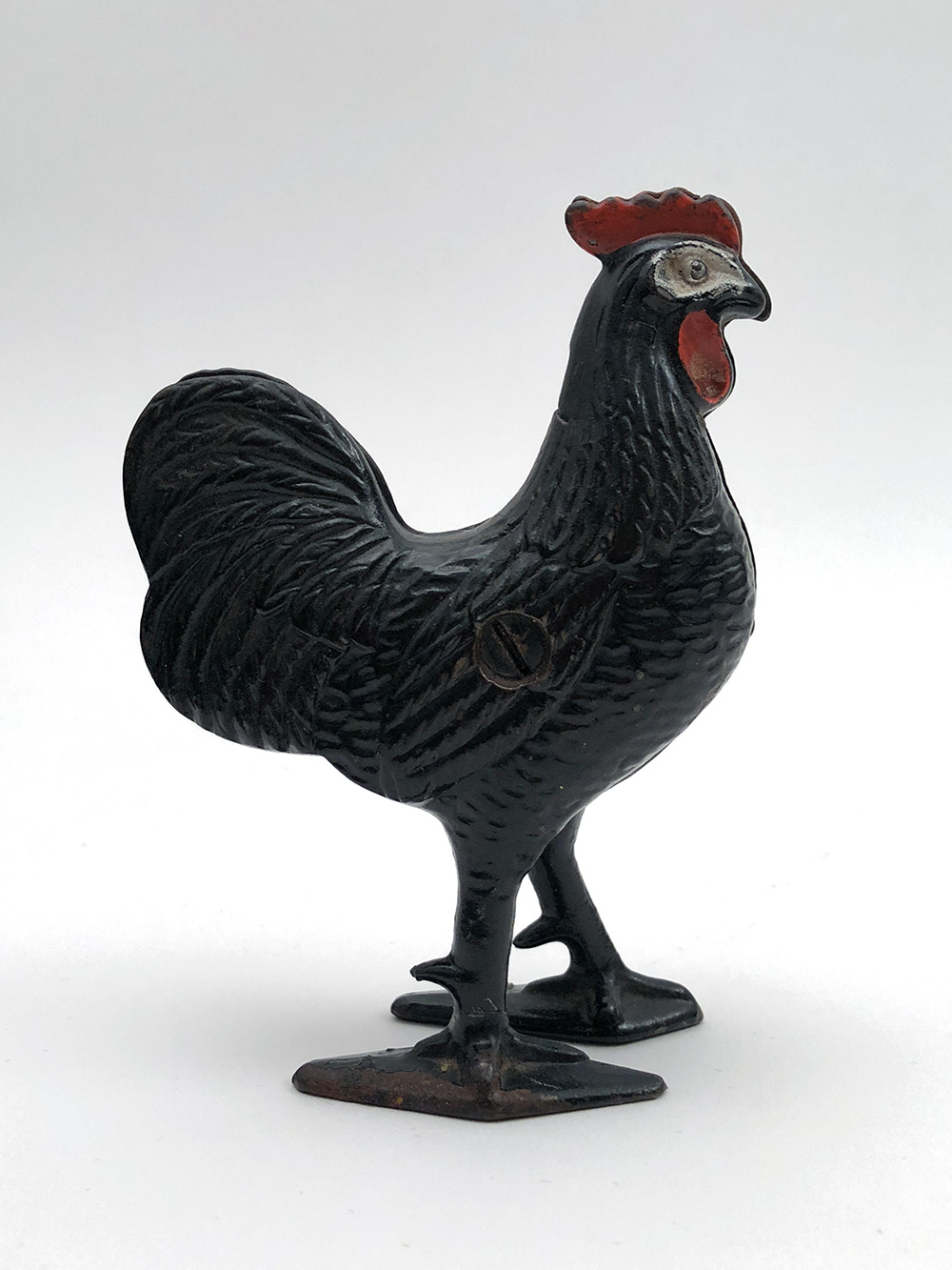 Original Cast Iron Rooster Penny Bank For Sale