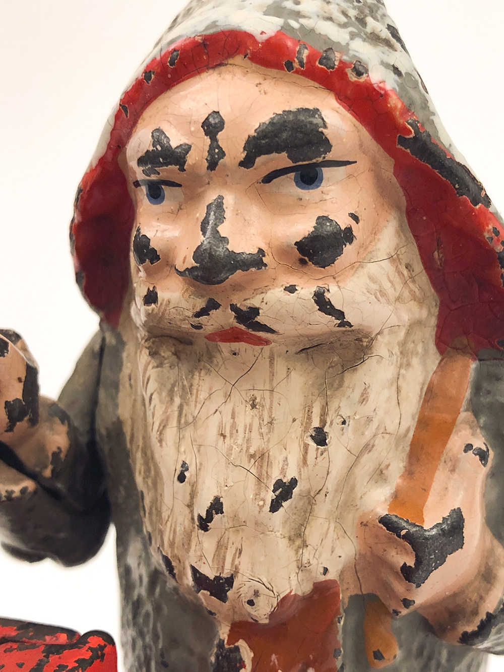 antique cast iron santa claus mechanical bank for sale