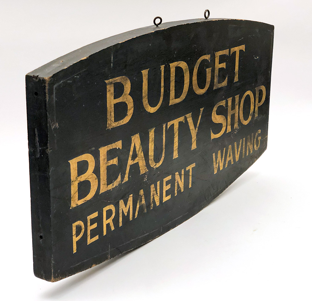 antique beauty shop trade sign for sale