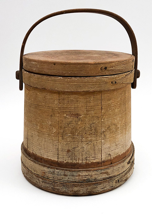 antique wooden firkin sugar bucket for country kitchen decor