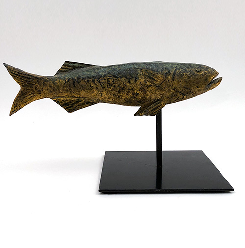 Antique Gold Gilded  Weathervane For Sale Cod Fish 19th Century Americana Folk Art