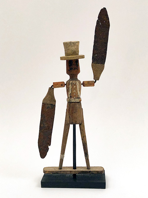Folk Art 19th Century American Whirligig Wooden Painted Carving for Sale
