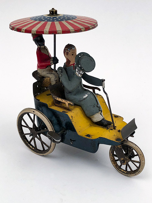 Lehmann Antique German Tin Wind Up Toy New Century Cycle for Sale