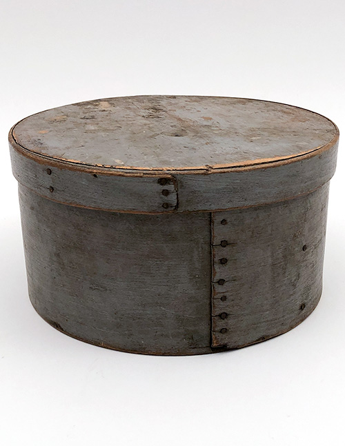 original first surface gray pantry box country woodenware antiques for sale