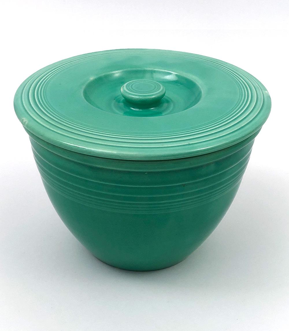 vintage fiestaware original green number 3 nesting bowl lid for sale