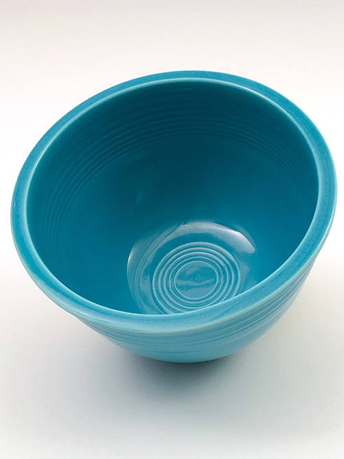 Vintage Fiesta Nesting Bowl Number Three in Turquoise Glaze For Sale