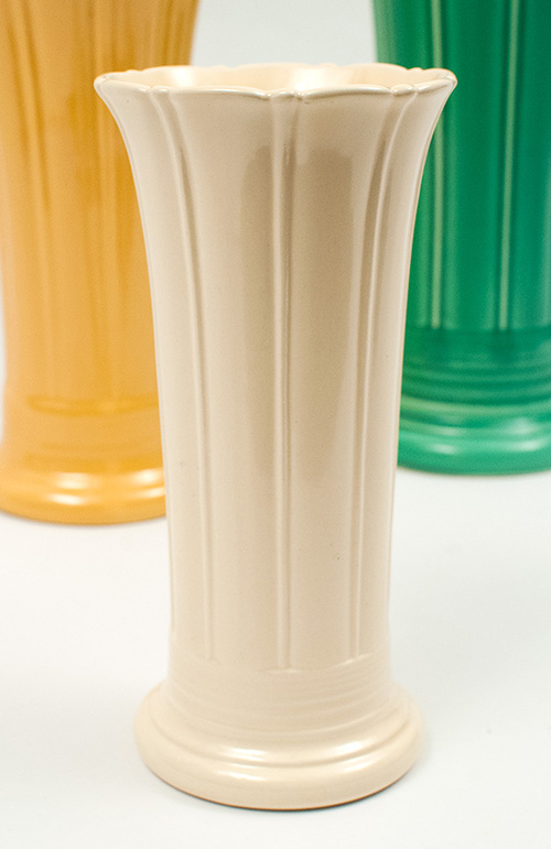 vintage fiestaware vase 8 inch old ivory fiesta tableware for sale