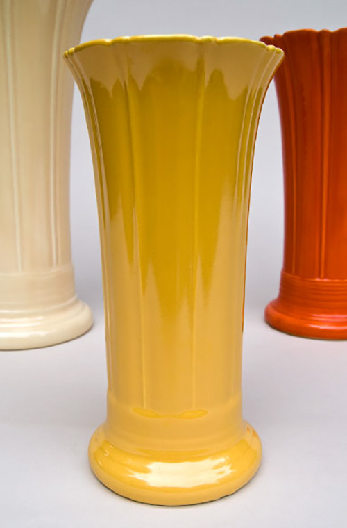 Yellow Vintage Fiesta 8 inch Vase for Sale