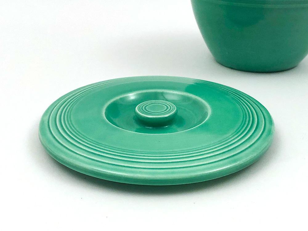 vintage fiesta bowl lid in green for sale